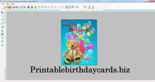 Print Birthday Cards software composes cards